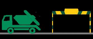 skip hire lorry low bridges